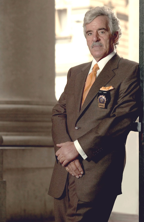 """This 2004 file image released by NBC shows actor Dennis Farina in character as Police Detective Joe Fontana on NBC's """"Law & Order."""" Farina died suddenly on Monday, July 22, 2013, in Scottsdale, AZriz., after suffering a blood clot in his lung. He was 69. (AP Photo/NBC, Paul Drinkwater, File)"""