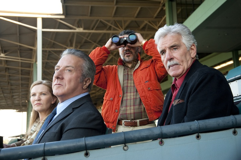 In this undated image released by HBO, from left, Joan Allen, Dustin Hoffman, John Ortiz and Dennis Farina are shown in a scene from the HBO original series