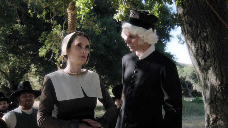 """Winona Ryder, left, and Michael Cera portray a scene from """"Drunk History,"""" airing Tuesdays at 10 p.m. on Comedy Central."""
