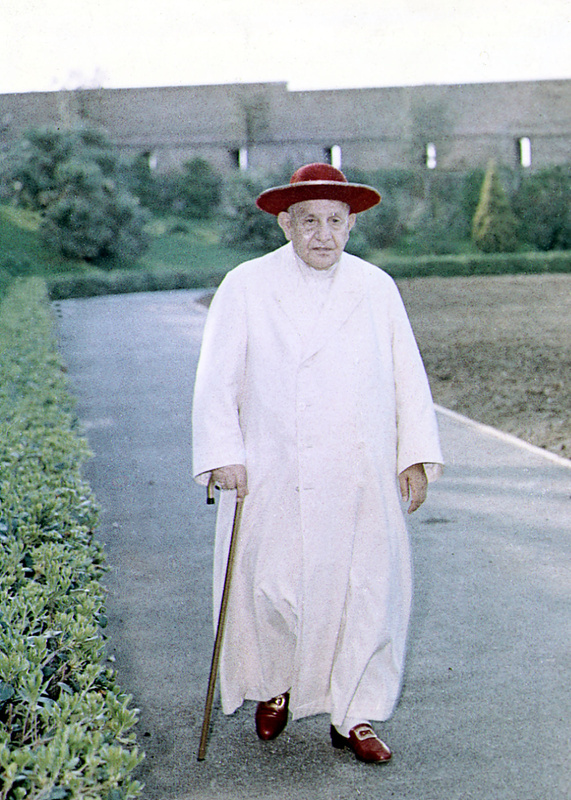 Pope John XXIII walks in the gardens of the Vatican in 1963. Pope Francis has decided to canonize John XXIII, even though there has been no second miracle attributed to his intercession.