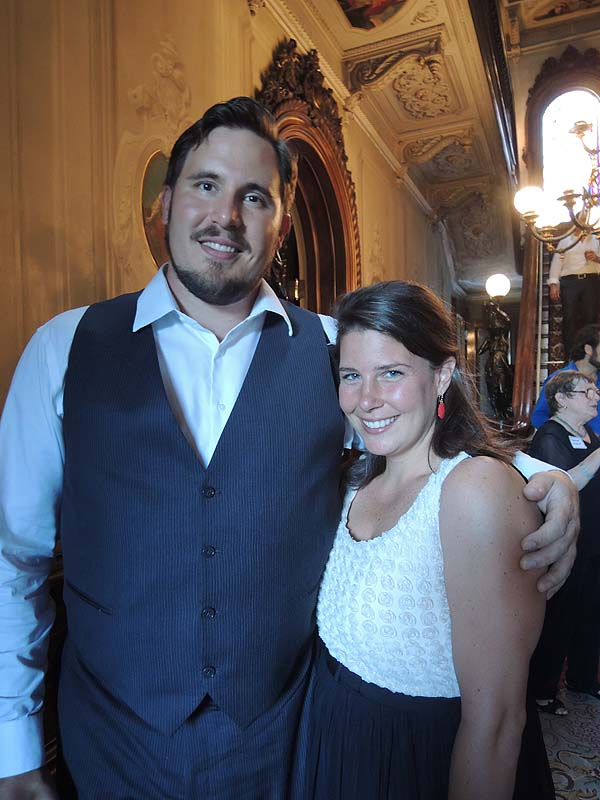Tenor Jeffrey Gwaltney with Leah Segrin, whose family has a cottage in Old Orchard Beach.