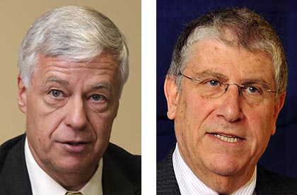 Eliot Cutler, right, who began drawing contributions in February, had more than $430,000 in donations. U.S. Rep. Mike Michaud generated $313,000 in a 17-day period after he announced that he will explore a run for governor.