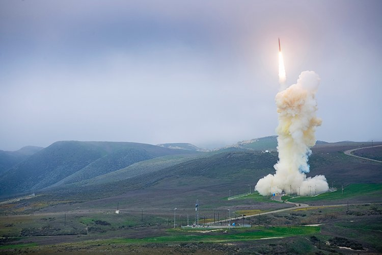 The Missile Defense Agency conducted a flight test of a three-stage ground-based interceptor missile from Vandenberg Air Force Base in California this year.