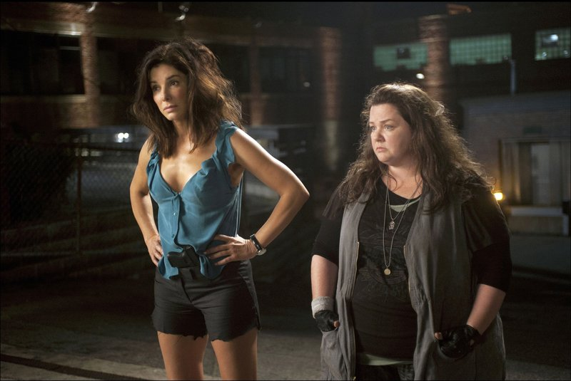 "Sandra Bullock, left, and Melissa McCarthy in ""The Heat."""