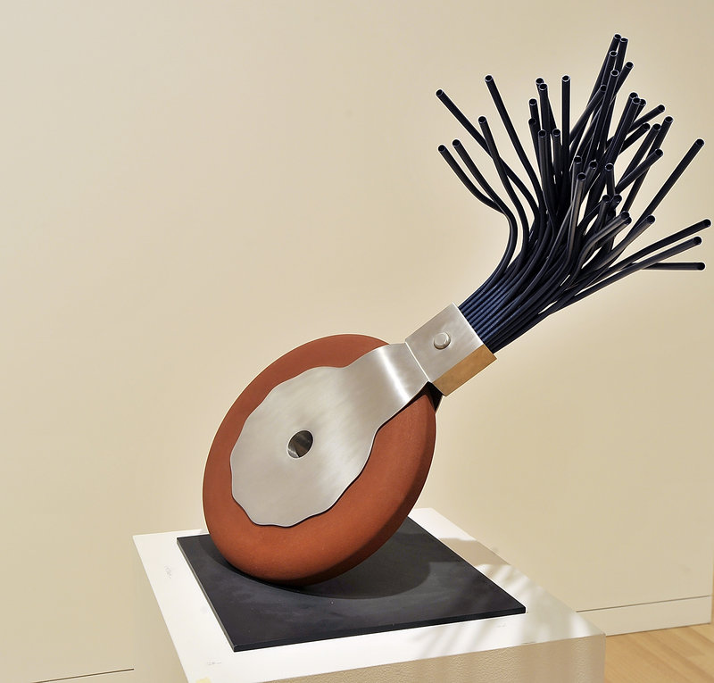 "Swedish sculptor Claes Oldenburg's ""Typewriter Eraser"""