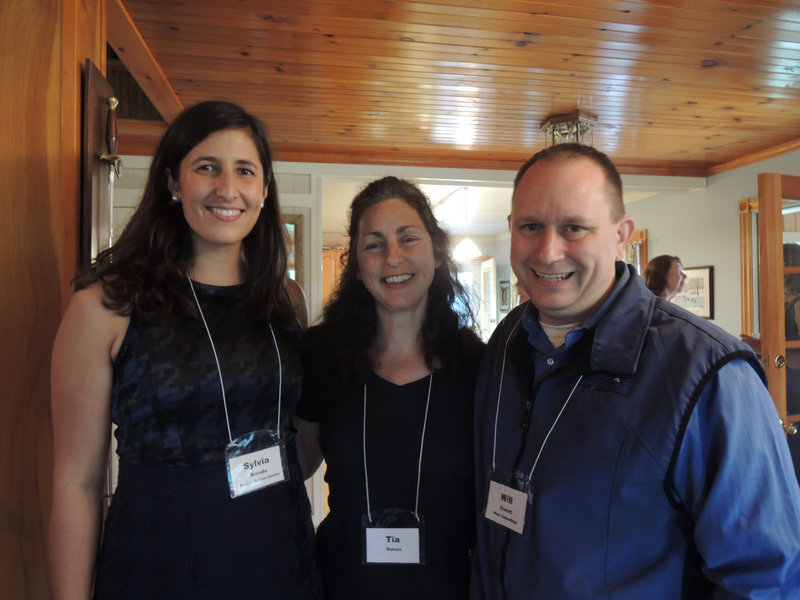 Sylvia Broude, executive director of Toxics Action Center, Tia Simon, a member of Citizens for a Greener Gorham, and Will Everitt, a member of the Toxics Action Center advisory board.