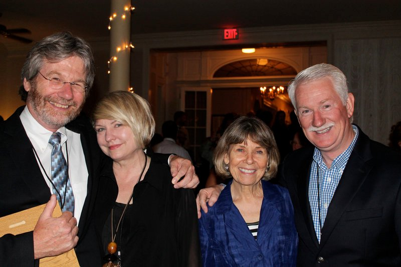 """Bill Nemitz of the Portland Press Herald/Maine Sunday Telegram, the Readers' Choice Award recipient for """"Best Print Columnist,"""" and his wife, Andrea, take in the evening's festivities with Pam Green and her husband, Bill, of WCSH, who was the Readers' Choice """"TV Personality"""" as host of """"Bill Green's Maine"""" and """"The Green Outdoors."""""""