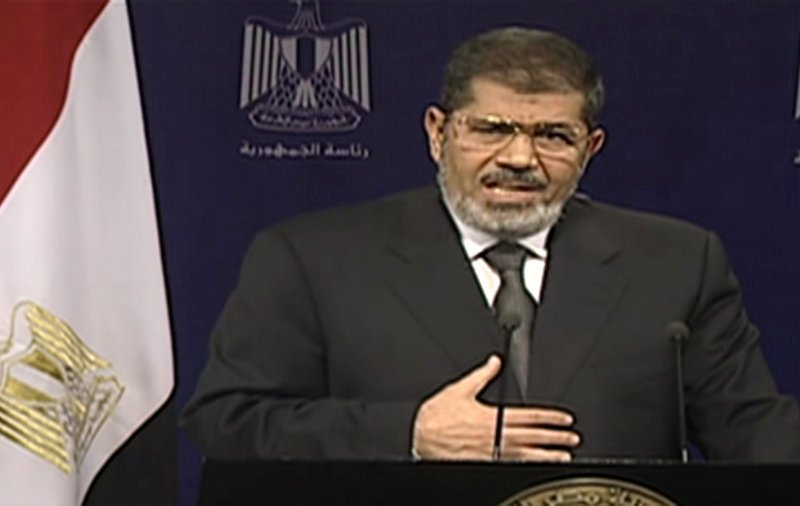Egyptian President Mohammed Morsi addresses the nation in a televised speech in which he asserted his constitutional legitimacy.