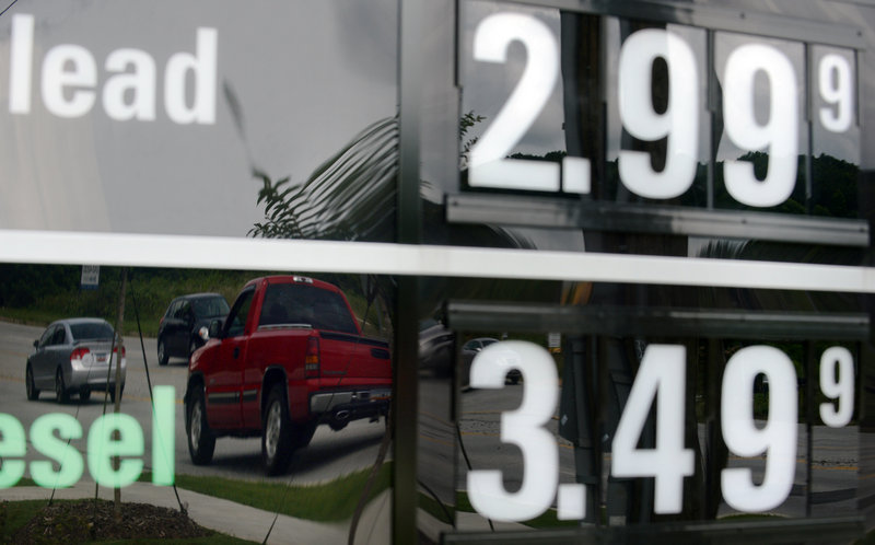 Unleaded gas was selling for $2.99 Monday at a QuikTrip station in Greenville, S.C. The national average for a gallon has fallen for 21 days straight and is below $3.50 for the first time since February.