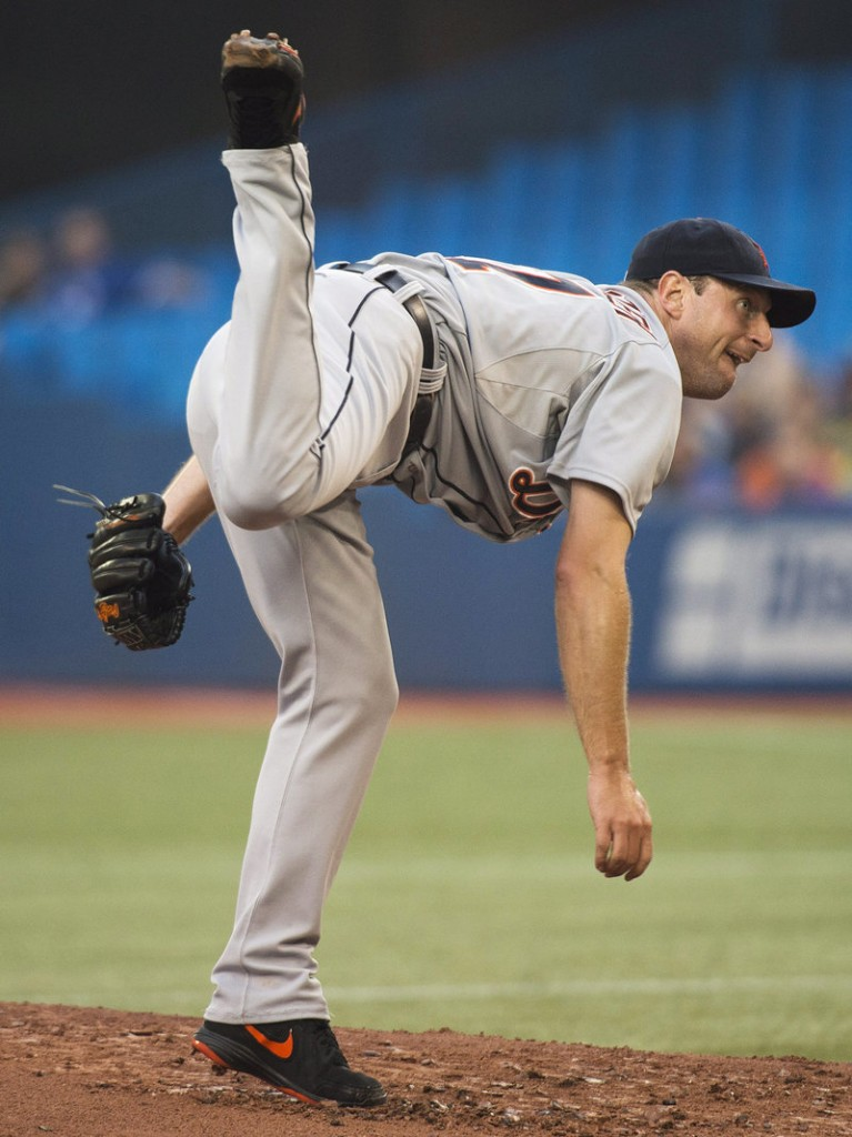 Max Scherzer of the Detroit Tigers reached 13-0 – the best start in baseball in 27 years – by beating the Blue Jays.