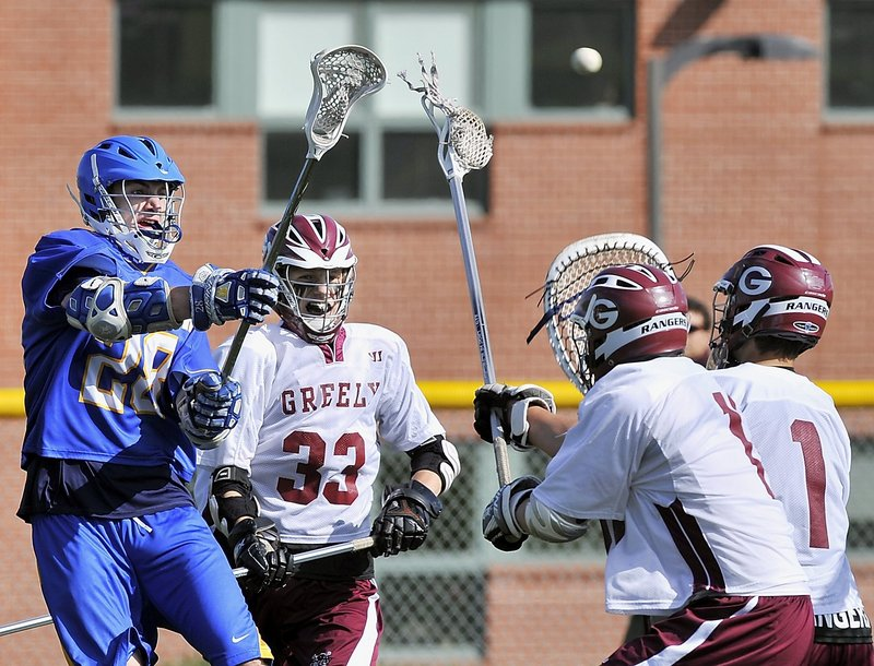Charlie Fay of Falmouth who had with 55 goals in boys' lacrosse, following the footsteps of his All-American father, and also was a standout in soccer and basketball.