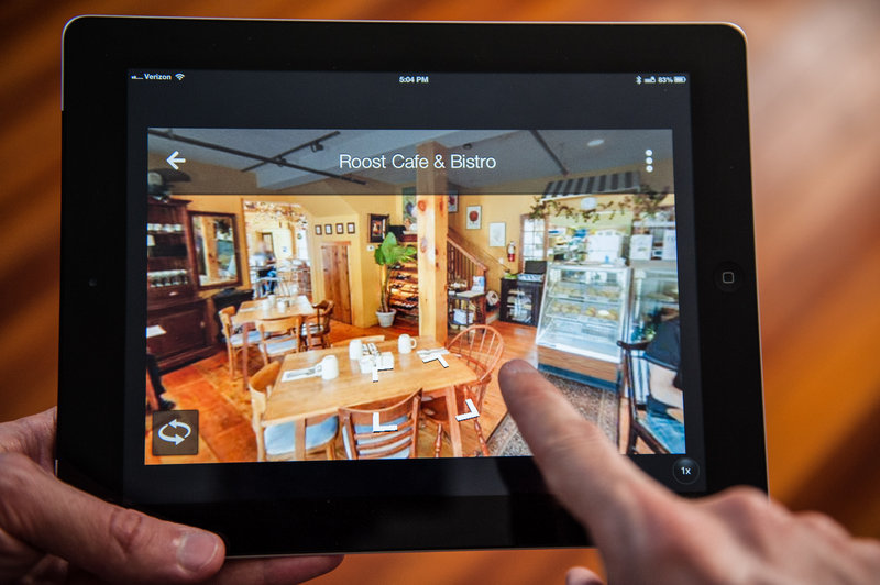 The Roost Cafe & Bistro in Cape Neddick is located and viewed inside and out using a free Google Maps App that shows photos taken by Indoor Street View, a company based in York.