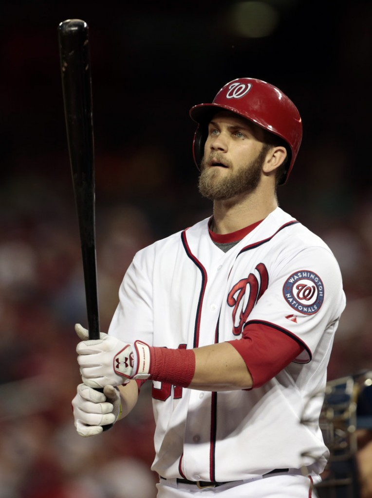 Bryce Harper of the Washington Nationals let Manager Davey Johnson know that he wanted to be in the lineup Saturday against San Diego, then drove in three runs.