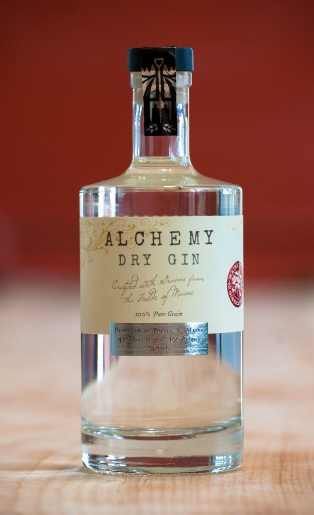 Alchemy gin, made by Maine Craft Distilling in Portland.