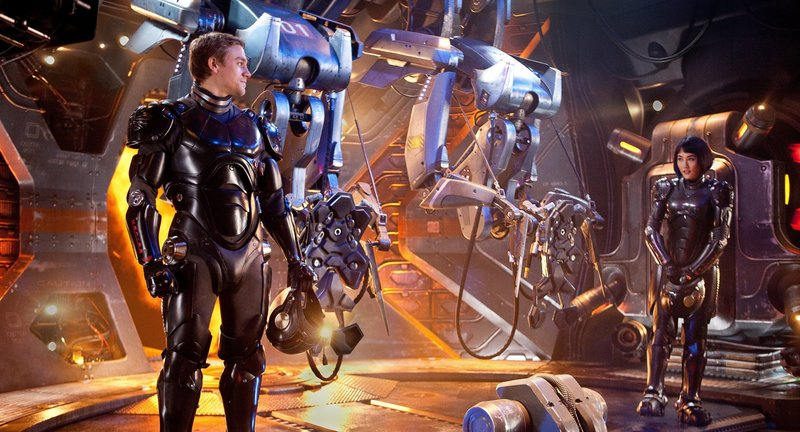 "Charlie Hunnam and Rinko Kikuch star in ""Pacific Rim."""