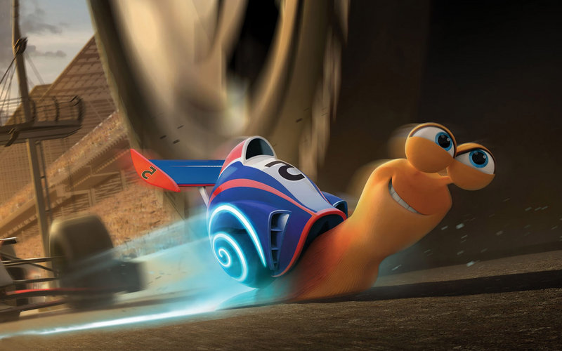 "The snail Turbo, voiced by Ryan Reynolds, in the new animated feature ""Turbo."""