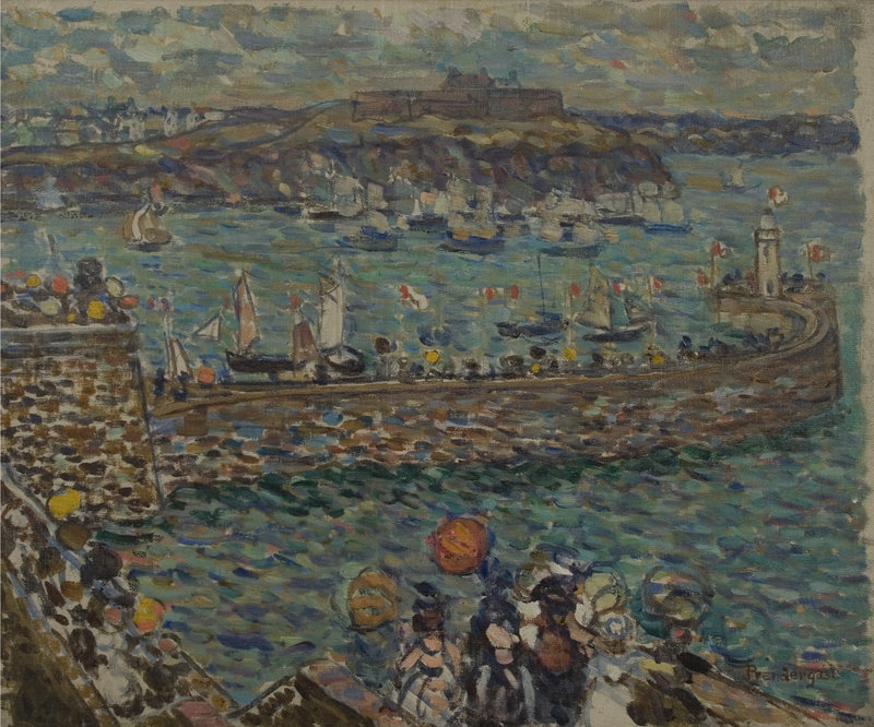 """Lighthouse at St. Malo,"" c. 1907, by Maurice Prendergast"