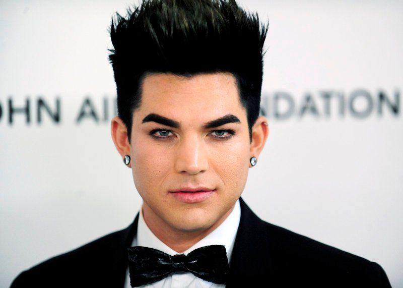 Singer Adam Lambert appears at a party in West Hollywood, Calif., in February.