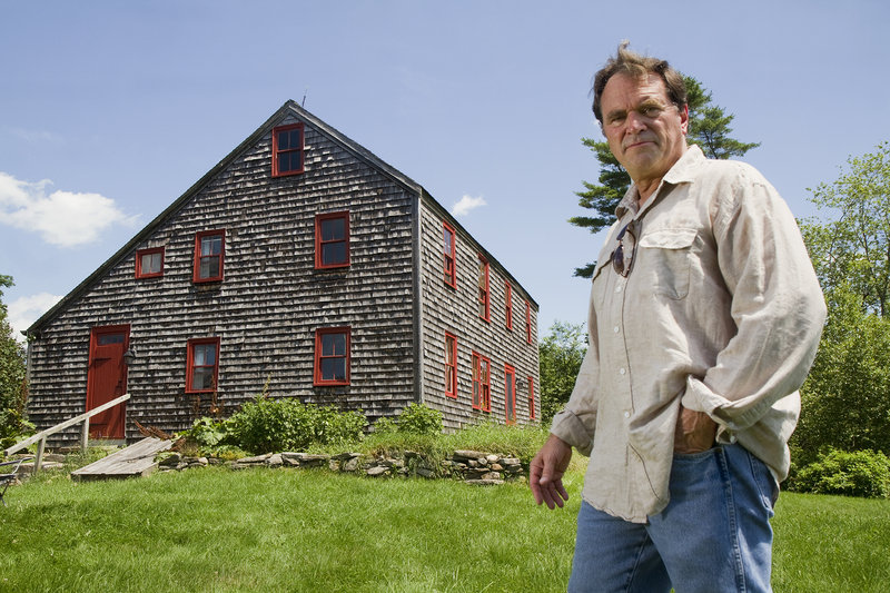 Film producer Frank Pote, who is undertaking a documentary about the Captain Greenfield Pote House, the oldest house in Freeport, talks about the project near the house Monday, July 15, 2013.