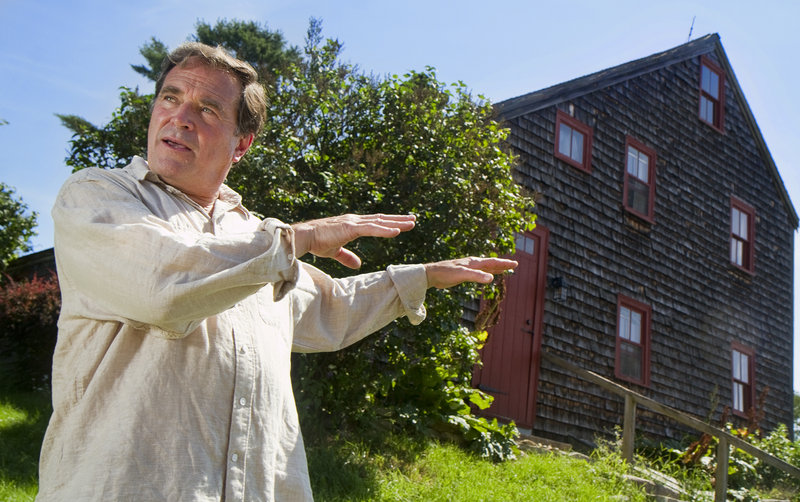 Film producer Frank Pote, who is undertaking a documentary about the Captain Greenfield Pote House, the oldest house in Freeport, talks about the project near the house on Monday July 15, 2013.