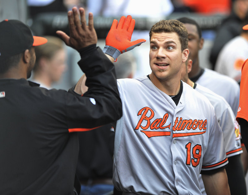 Baltimore's Chris Davis has been getting high-fives aplenty as he continues to decimate American League pitching in what could be a record year.