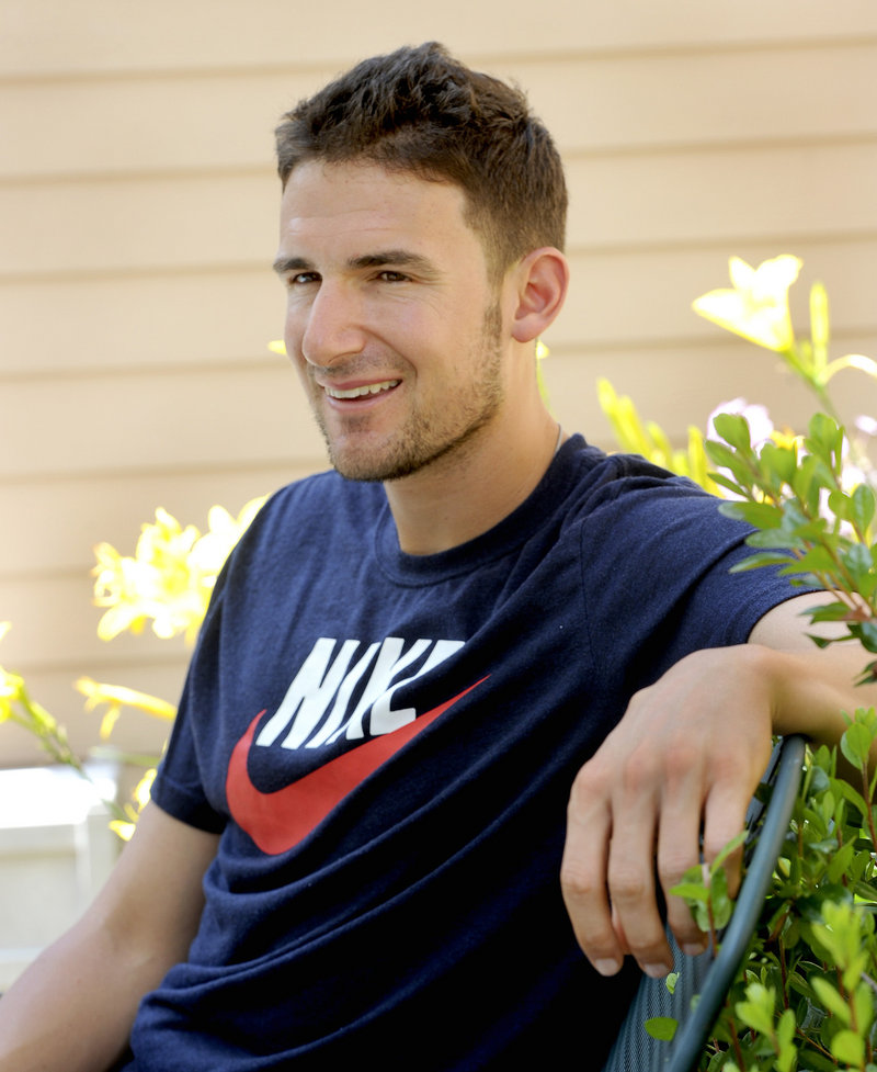 Orioles infielder Ryan Flaherty spends time at his parents' house in Portland during baseball's All-Star break.