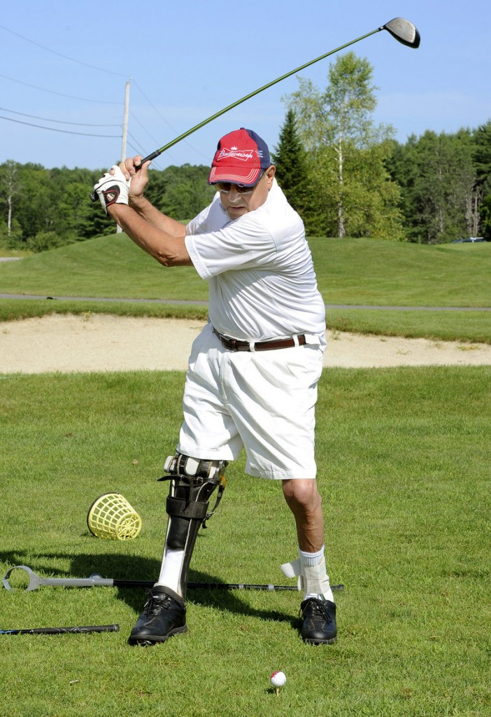 Tony Rice, 70, of Scarborough, who shattered his spine in a 1975 fall, said the skiing and golf programs offered by Maine Adaptive Sports and Recreation have given him a new lease on life.