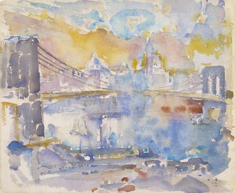 "Above: ""Brooklyn Bridge"" by John Marin."