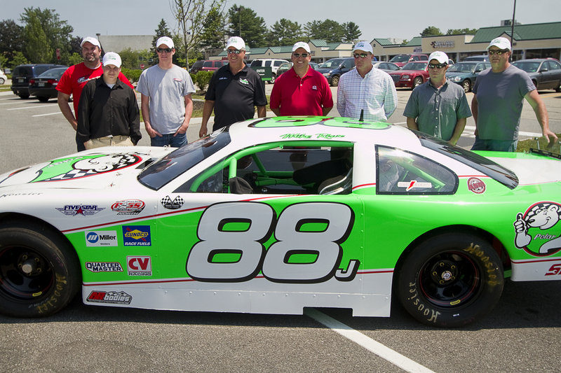 Some of the TD Bank 250 drivers include, left to right: Johnny Clark, Joey Doiron, Cassius Clark, Mike Rowe, Ben Rowe, Jay Fogleman, Travis Benjamin and Tim Brackett.