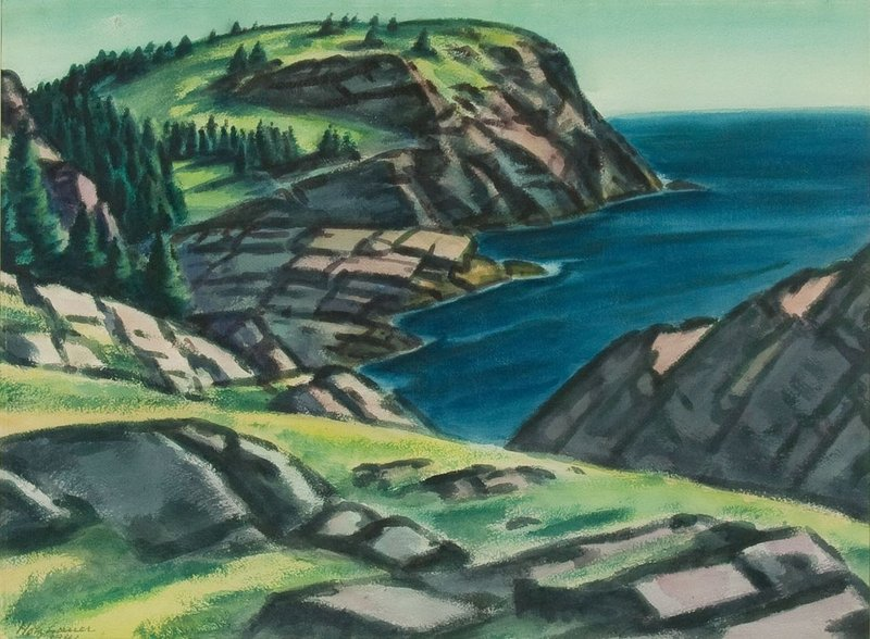 """Whitehead"" by Emil Holzhauer, one of the Monhegan artists influenced by the groundbreaking Armory Show of 1913."