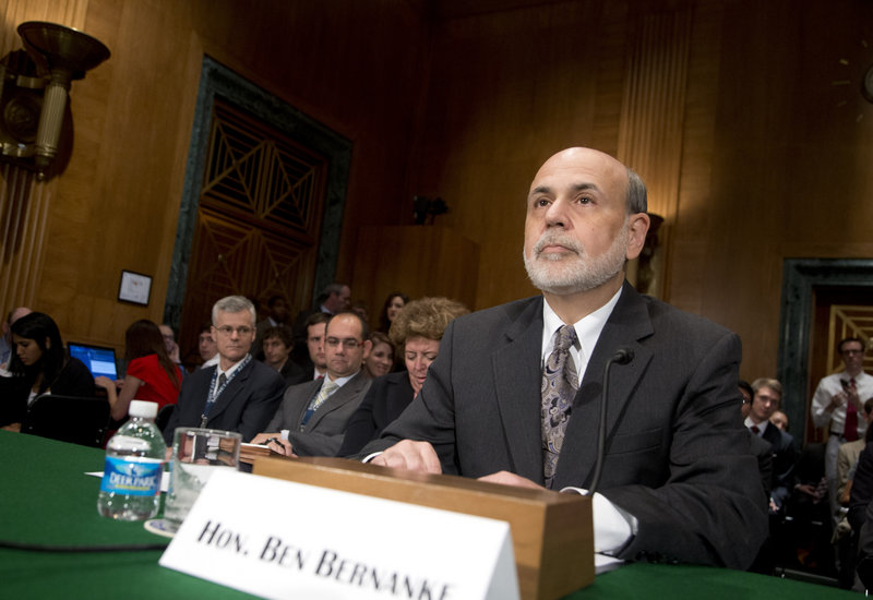 Federal Reserve Chairman Ben Bernanke gives his semiannual report on monetary policy Thursday to the Senate Banking, Housing and Urban Affairs Committee.