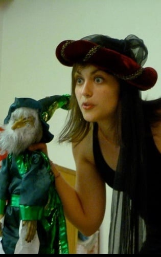 McEldowney travels widely to perform storybook tales and original works using puppets she creates in Puppet Storytime Theatre.