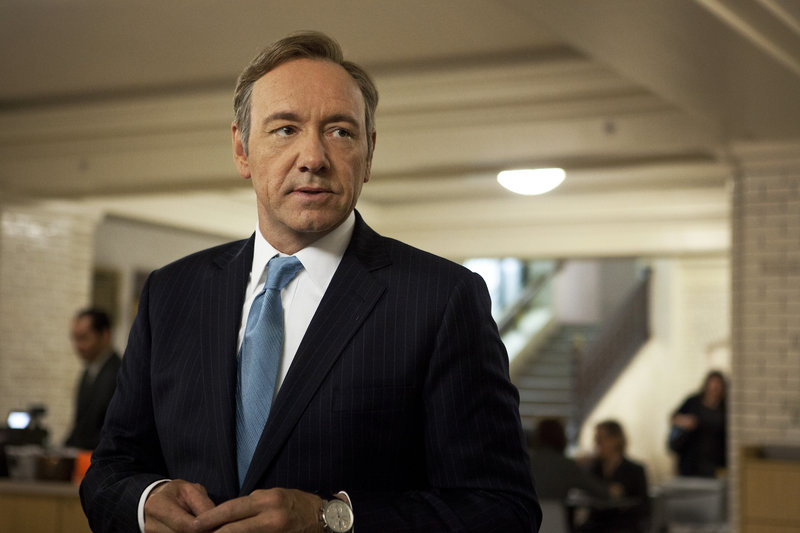 """Kevin Spacey appears as U.S. Rep. Frank Underwood in the Netflix original series """"House of Cards."""" Spacey was nominated for an Emmy for best actor in a drama series."""