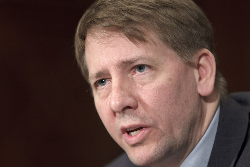 The nomination of Richard Cordray, above, to serve as permanent director of the Consumer Financial Protection Bureau was confirmed earlier this week. Republican Maine Sen. Susan Collins said that her vote to confirm Cordray did not reflect a change in position on her part.