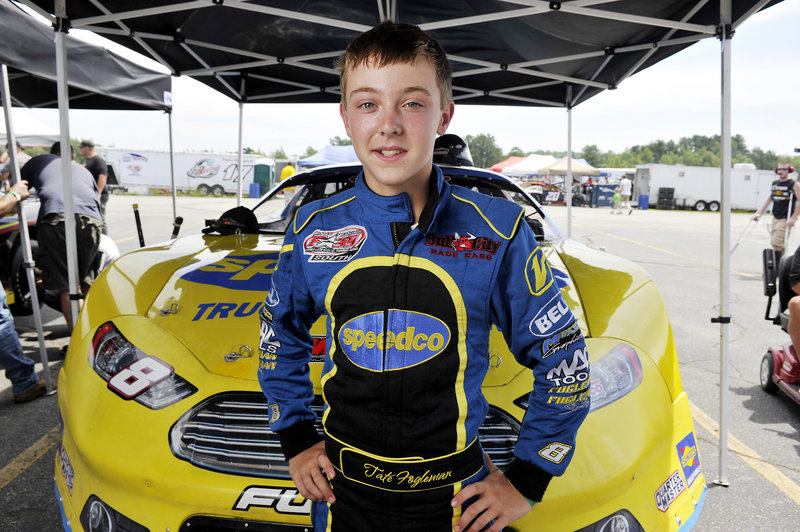 Should Tate Fogleman, 13, make it through the qualifying heats of the TD Bank 250, the Durham, N.C., teen would be the race's youngest driver ever.