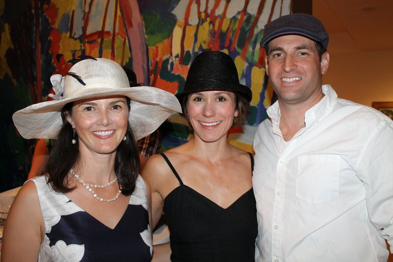 From left, Portland resident Bree LaCasse, co-chair of the Contemporaries and a trustee of the Portland Museum of Art, with Emily and Duncan Bruce, also of Portland.