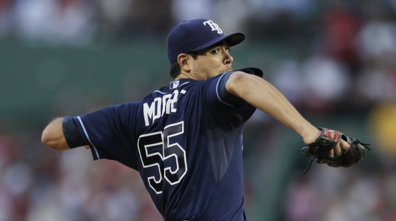 Tampa Bay's Matt Moore was in control all the way at Fenway Park on Monday night, stifling the Red Sox with a masterful two-hit shutout. The Rays have now won six straight and 18 of their last 20 games. Moore, who allowed just one runner past first base, improved to 14-3 on the year.