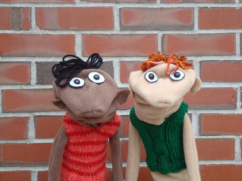 Willis and Ian, two of Tara McDonough's puppets.