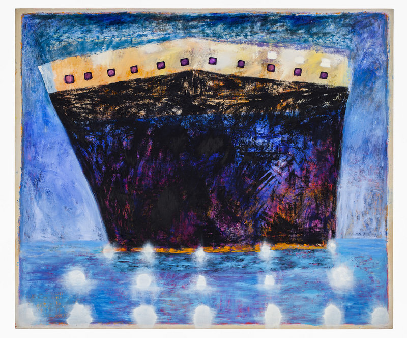"Katherine Bradford's ""Ship in Blue Harbor"""