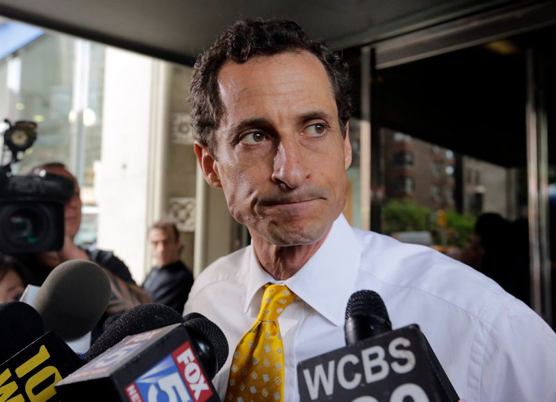 """Anthony Weiner said he would keep talking about """"ideas for the middle class and people struggling to make it every single day"""" as he continues his campaign for New York mayor."""