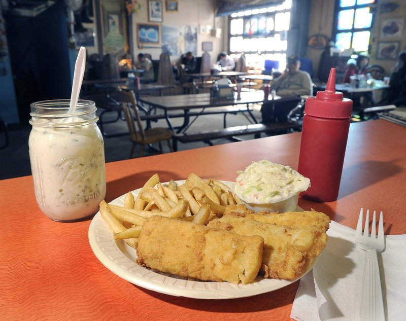 Susan's makes a point of using fresh haddock for fish and chips.