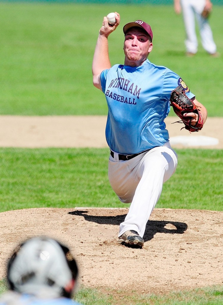 Shawn Francoeur of Windham pitched six strong innings against Madison, allowing two runs and striking out eight.