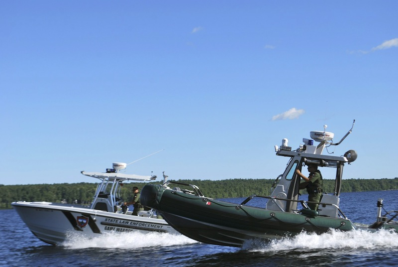 "Wardens go out in patrol boats in one of the first episodes of ""North Woods Law."""