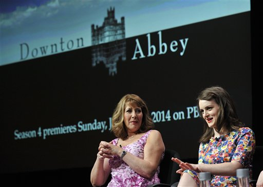 Sophie McShera, right, and Phyllis Logan, cast members in the Masterpiece series