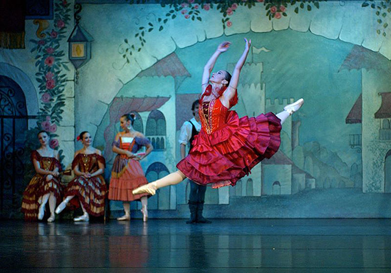 """Janet Davis as Kitri in Maine State Ballet's production of """"Don Quixote."""" She and Caitlin Bernard are alternating the role."""