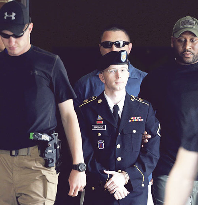 A military judge correctly acquitted Army Pfc. Bradley Manning, above, of aiding the enemy by leaking U.S. intelligence. :rel:d:bm:GF2E97U1ETK01