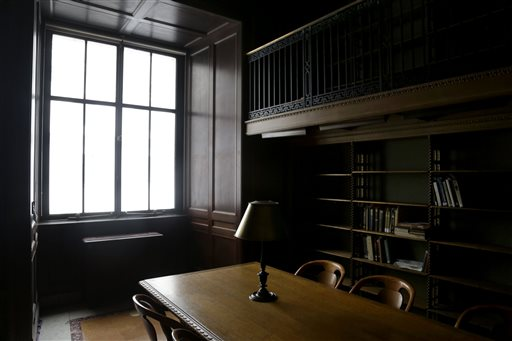 This room is used by researchers at the main branch of the New York Public Library. The building draws up to 2 million people a year and any of them can request a book from the research collection, available for perusal in generally about 15 minutes.