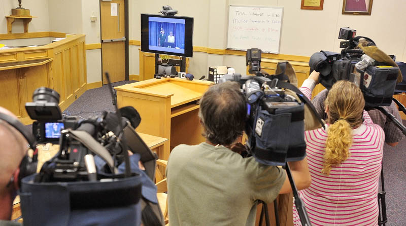 Reporters from a variety of media were at the video conference arraignment today for BethMarie Retamozzo.