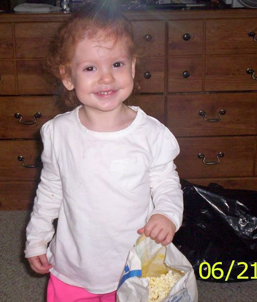 This June 21, 2013 photo shows Madelyn Negron, age 2, daughter of Jessica Joy and Raul Negron. Madelyn was found dead in her playpen in Westbrook on Monday, Aug. 5, 2013. Police are investigating.