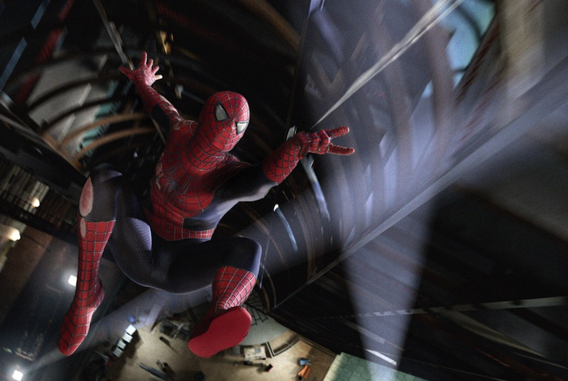 This undated file photo released by Columbia Pictures shows Spider-Man in a scene from the film
